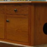 Stained Oak Litter Box Furniture